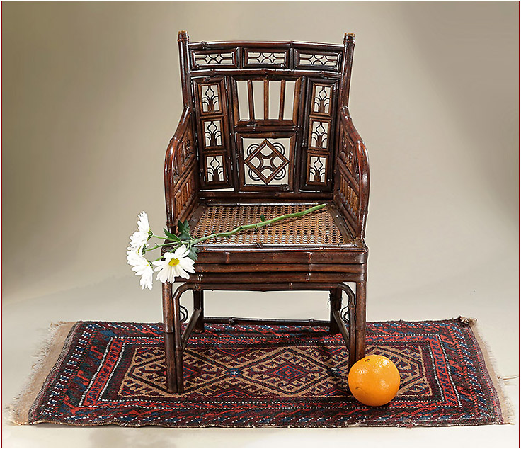 A Scarce Brighton Pavilion Bamboo Caned Child S Armchair