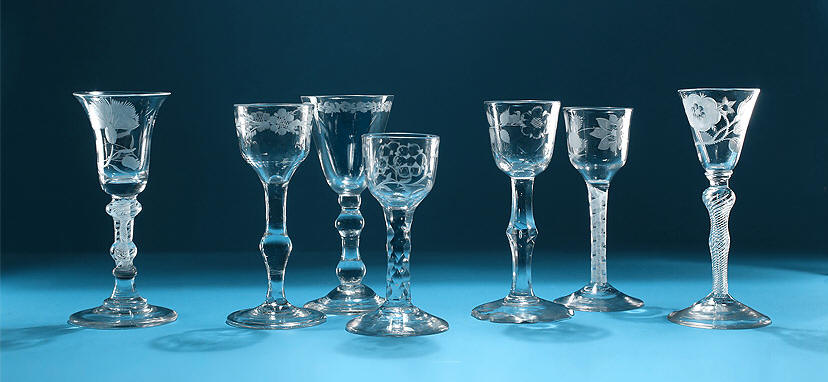 Jacobite Glasses Their Symbols M Ford Creech Antiques