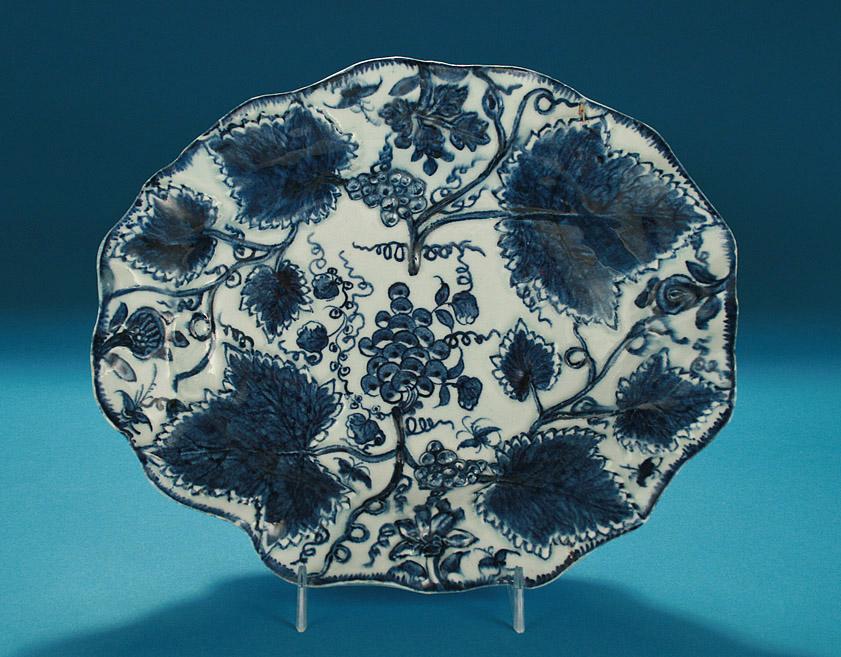 BOW PORCELAIN LOBED U0026 MOLDED LEAF DISH, C1765 70; M. Ford Creech Antiques U0026  Fine Arts