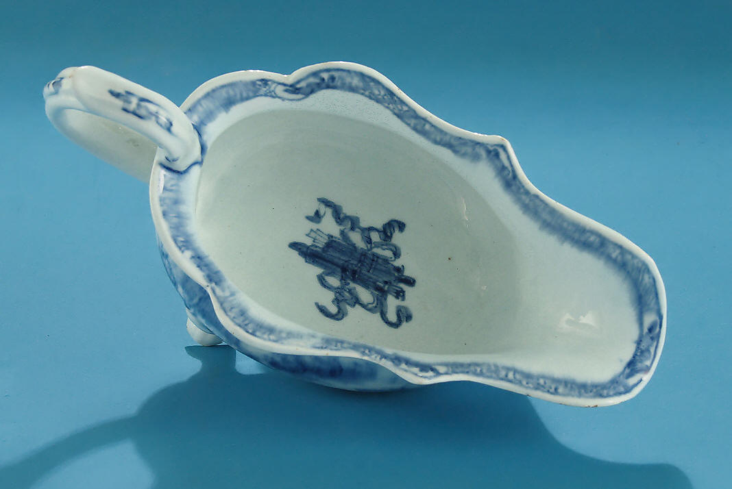 Bow Porcelain Footed Sauceboat England C1754 M Ford