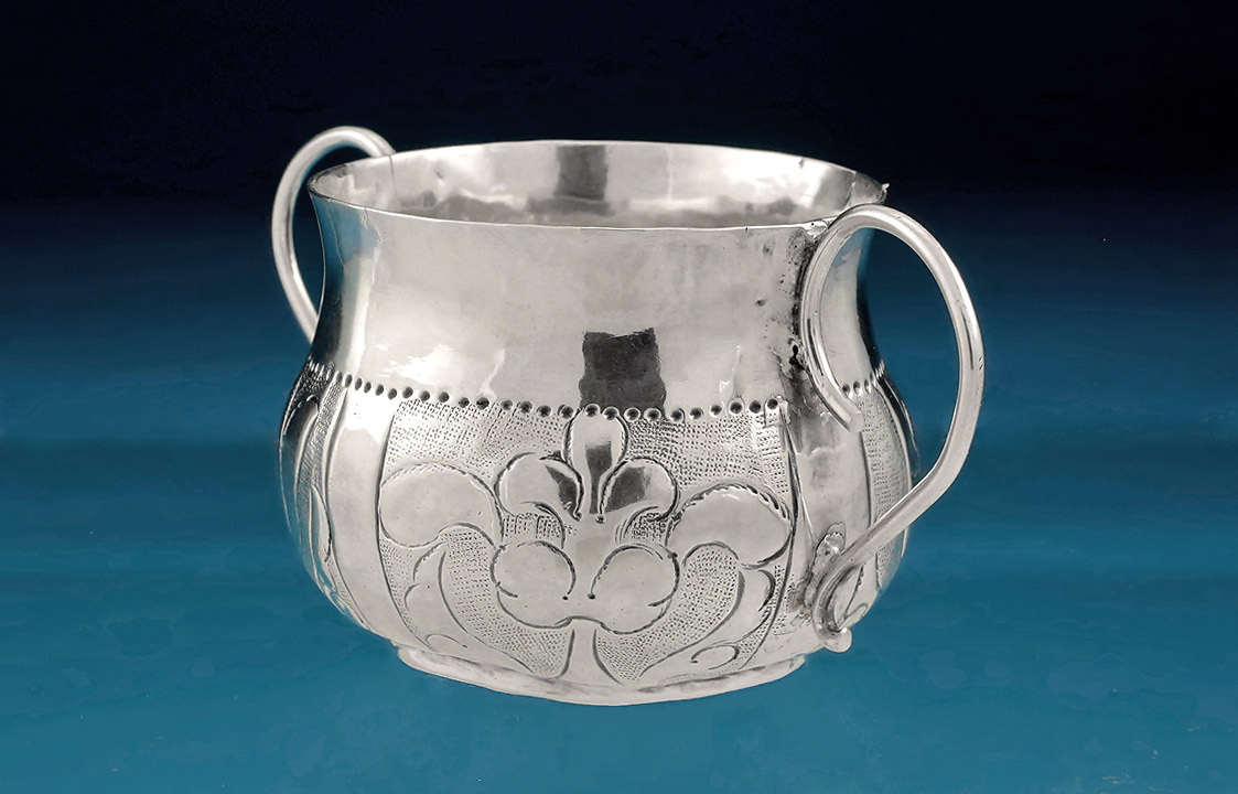 Charles II Miniature (Toy) Porringer, 1671
