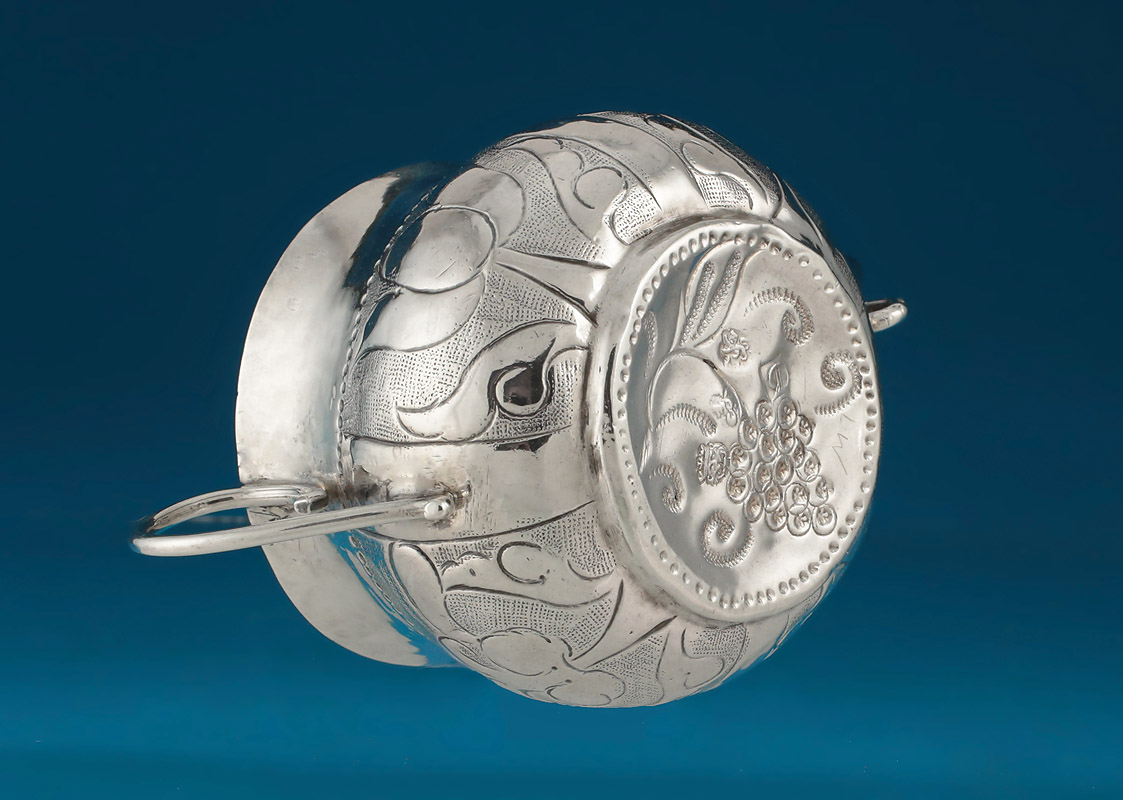 Charles II Miniature (Toy) Silver Porringer, 1671