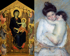 THE EVOLUTION in ICONOGRAPHY from the MOTHER & CHILD