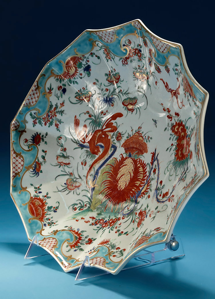 First Period Worcester Jabberwocky Pattern Oval Dish