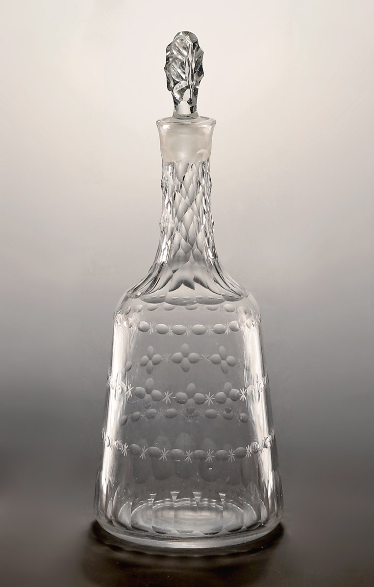 GEORGE III CUT GLASS SUGAR-LOAF DECANTER, England, c1770 ...