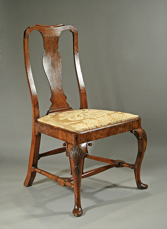Late Queen Anne Early George I Walnut Side Chair