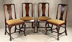 Queen Anne George I Walnut Veneered Side Chair England