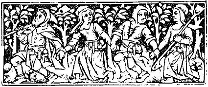 Woodcut, detail of a page from Horae, Paris, 1506