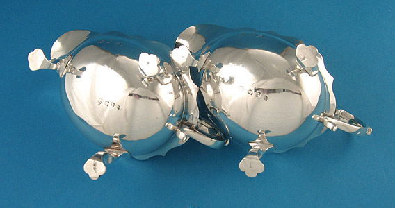 Pair of George II Silver Sauceboats, 1754